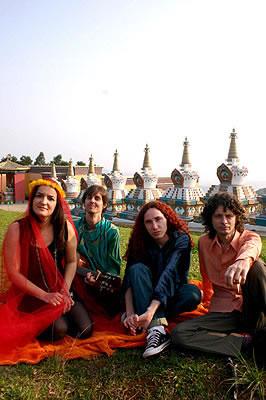 A banda, no Tempo Budista de Três Coroas. Imagem: Gabriela DiBella