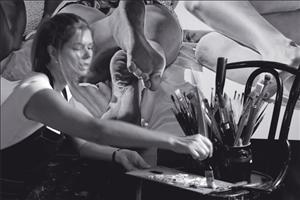 """Trabalhando na série """"Intimidade Compartilhada"""" Imagem: Roberta Borges"""