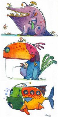 """Alguns dos """"Monstrúteis"""" Imagem: Hiro"""