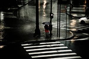 A chuva em São Paulo, pelo olhar de Fehlauer. Imagem: Paulo Fehlauer