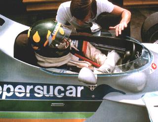 A dupla Wilson e Ricardo Divila na Fórmula 1. Imagem: acervo família Fittipaldi