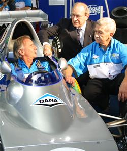 Wilson, Ferreira e Darci no Salão do Automóvel. Imagem: Marcelo Spatafora