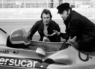 Ingo Hoffmann no Fitti-01 com Wilsinho e Jo Ramirez. Imagem: acervo Lemyr Martins