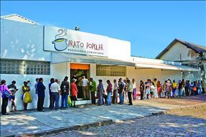 Um dos Restaurantes Populares. Imagem: Divulgação