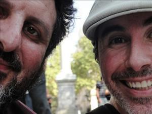 Marcelo e Danny López no Uruguai. Imagem: Marcelo Delacroix