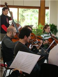 Momento de concentração da Orquestra. Imagem: Manuela Colla
