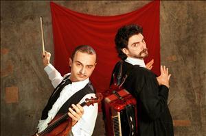 Nico Nicolaiewsky e Hique Gomez no Tangos e Tragédias. Imagem: Divulgação