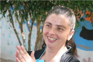 A alegria contagiante de Luciana. Imagem: Marcos Massa