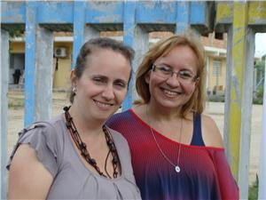 Marília Corrêa e Carmen Reis, do Instituto Vida Solidária. Imagem: Manuela Colla